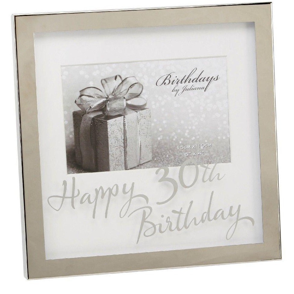 Box Frame 30th Birthday  6 x 4