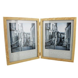 Double Aperture Wooden Photo Frame 8x10""