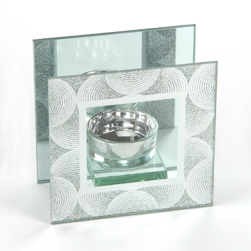 Mirror Glass Single Tealight Holder