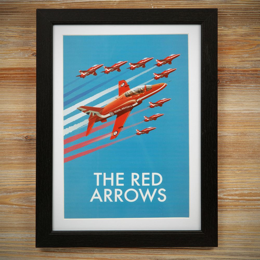 Heritage Frame Print - Red Arrows