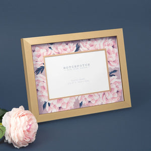 "Pink Floral Frame 6x4"" by Swan Lake"
