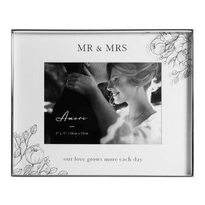 Floral Photo Frame - Mr & Mrs