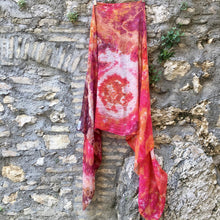 Load image into Gallery viewer, Stole, Maxi Foulard Unisex hand dyed scarf - Cosmogonia - Tencel