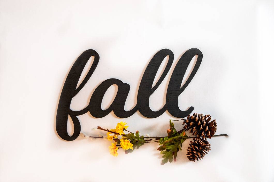 Fall Wood Cut Out