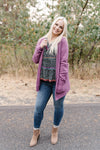 Plum Crazy Cardigan with Hood