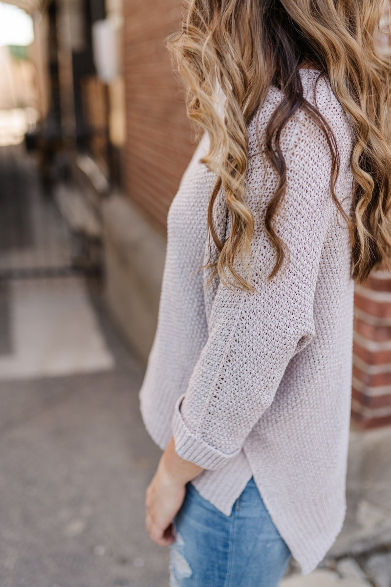 Totally Taupe-y Comfy Boxy Sweater