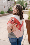 Blush Floral Colorblock V Top
