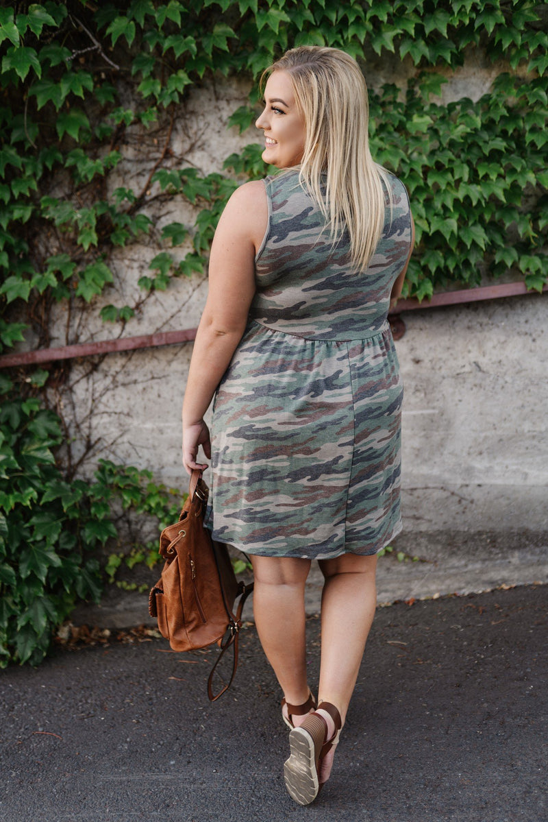 Day Trippin Camo Dress