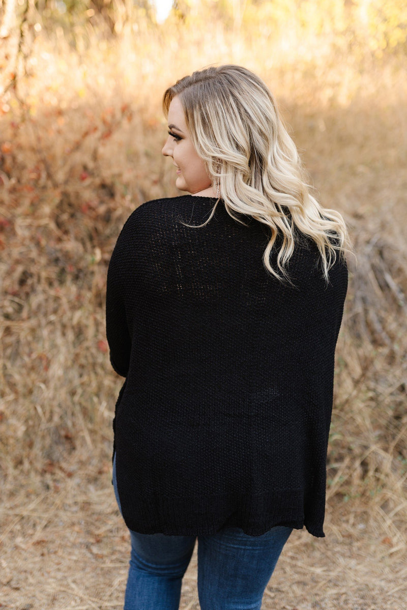 Depths of the Sea Black Knitted Sweater