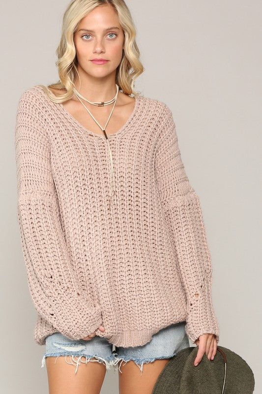 Kelsey Chunky Off The Shoulder Sweater