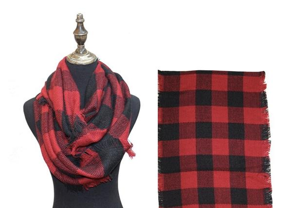 Plaid Infinity Scarves