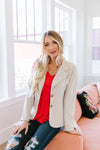 Blaze Of Glory Blazer In Taupe
