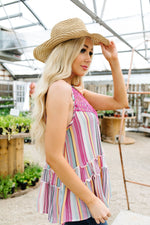 Bubble Gum Stripes Halter