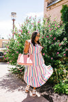 Carnival Striped Midi Dress