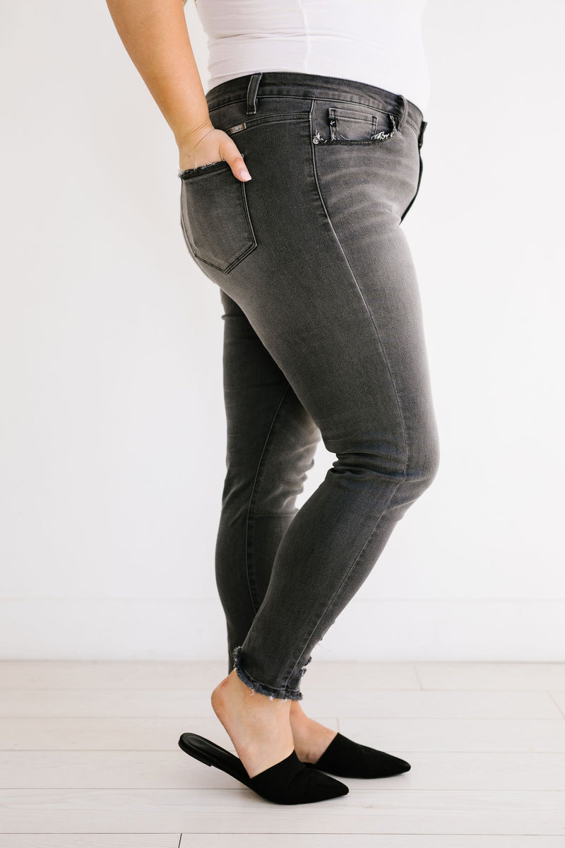 Gray Skies Mid-Rise Jeans