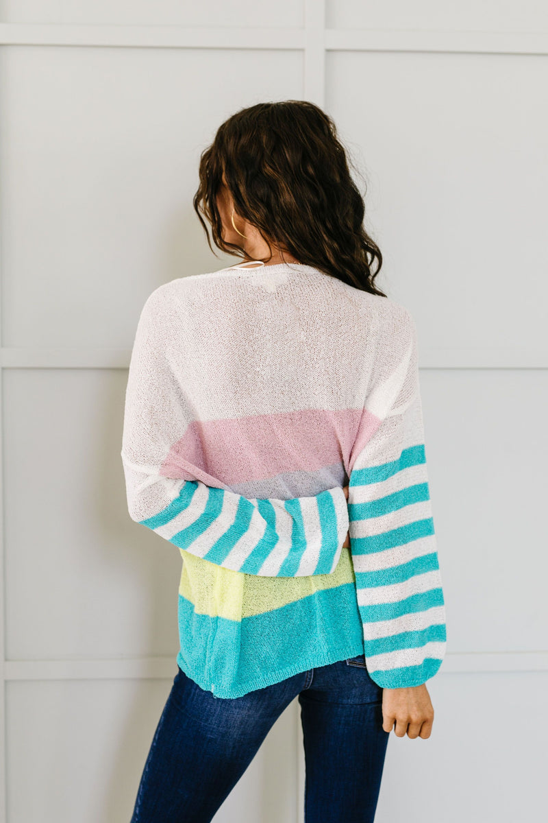 Here's To Sheer Striped Sweater