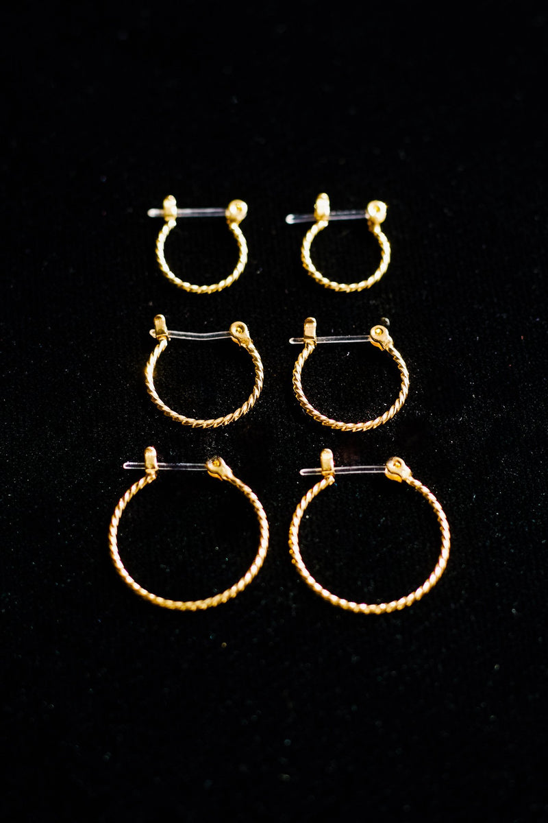 Hoops Galore Set In Gold