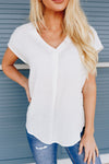 Laidback Linen V-Neck In White