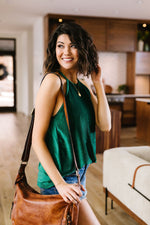 Lucky One Halter Top In Spruce