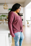 Mauve Modal Twist Top