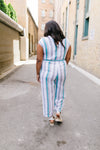 Pretty Woman Striped Jumpsuit