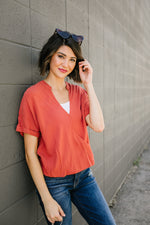 Rust Wrap Front Top