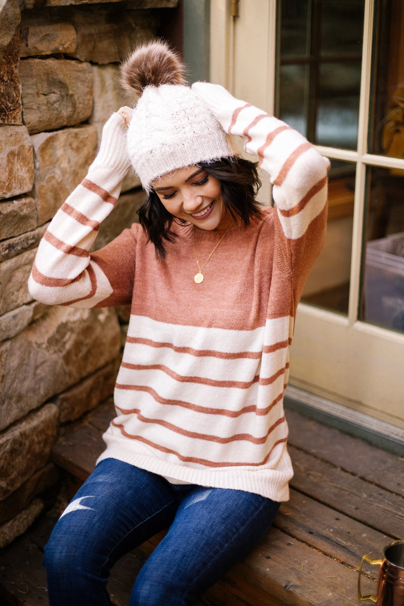 Striped Half Full Sweater