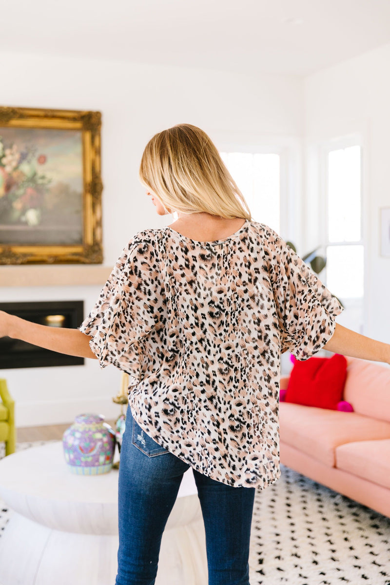 To The Point Animal Print Blouse