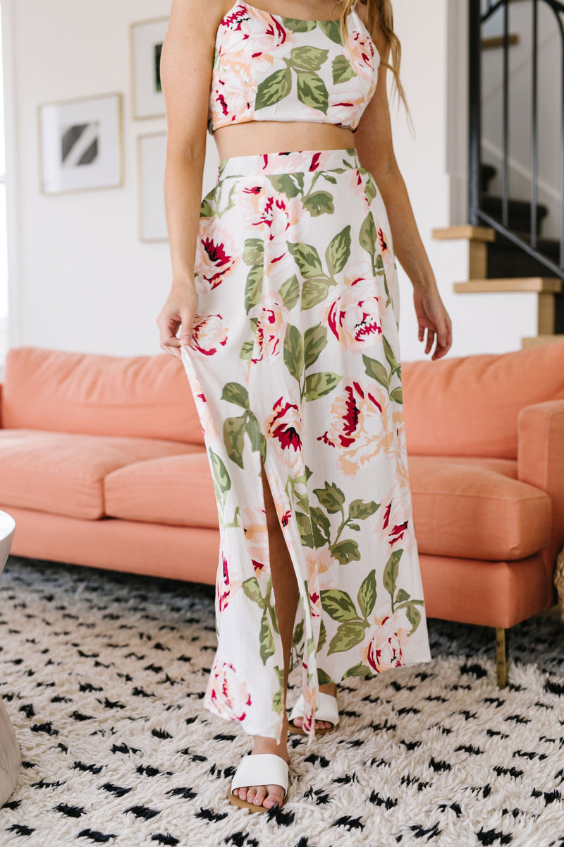 Tropical Fever Skirt In Ivory