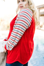Well-Red Raglan Top