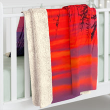 Load image into Gallery viewer, Destin Dunes at Sunset Sherpa Fleece Blanket Item 1120032