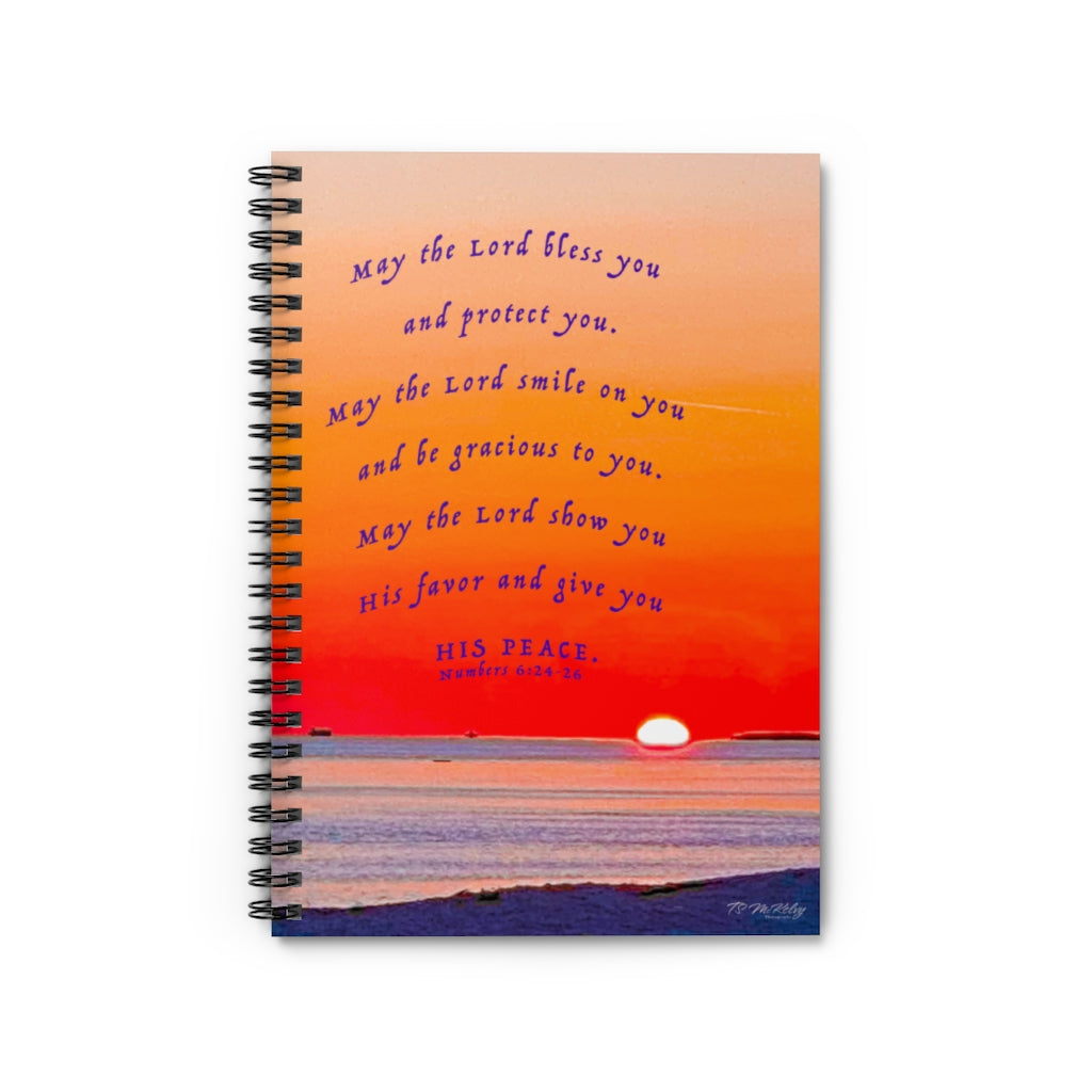 Sunset Blessing Num. 6:24-26 Spiral Notebook - Ruled Line Item 1120012
