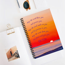 Load image into Gallery viewer, Sunset Blessing Num. 6:24-26 Spiral Notebook - Ruled Line Item 1120012