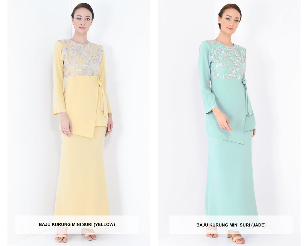 Baju Kurung Mini Suri 2020 (Yellow & Jade)