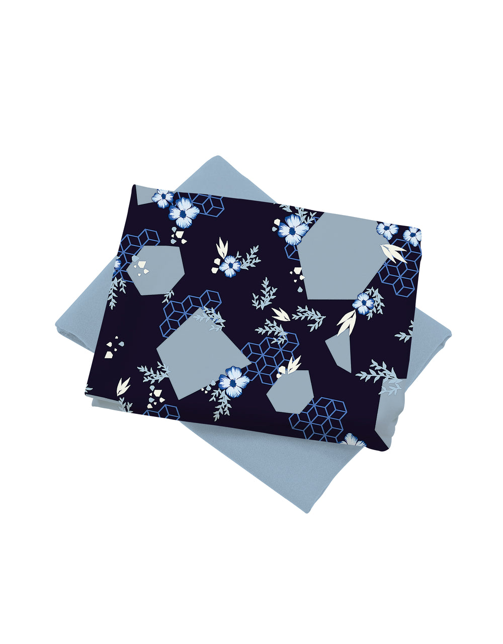 Mix and Match Palino Crepe Camellia (Navy Blue)