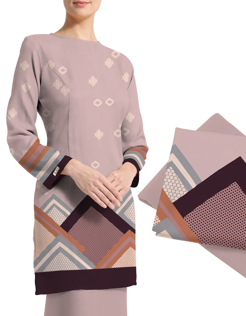 Mix and Match Palino Crepe Dalenna (Dusty Rose)