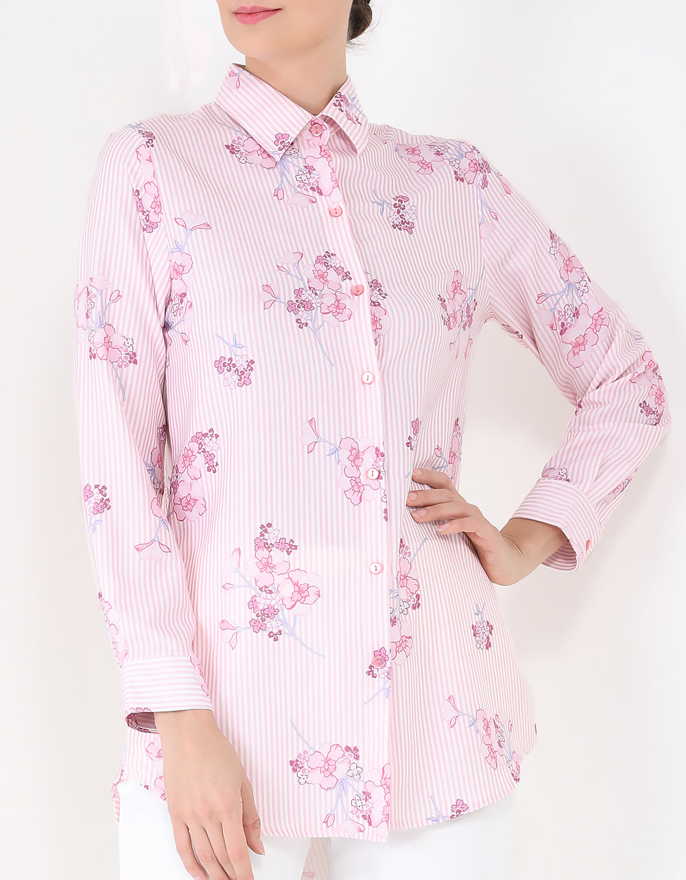 Vienna Small Stripe Tunic - Baby Pink