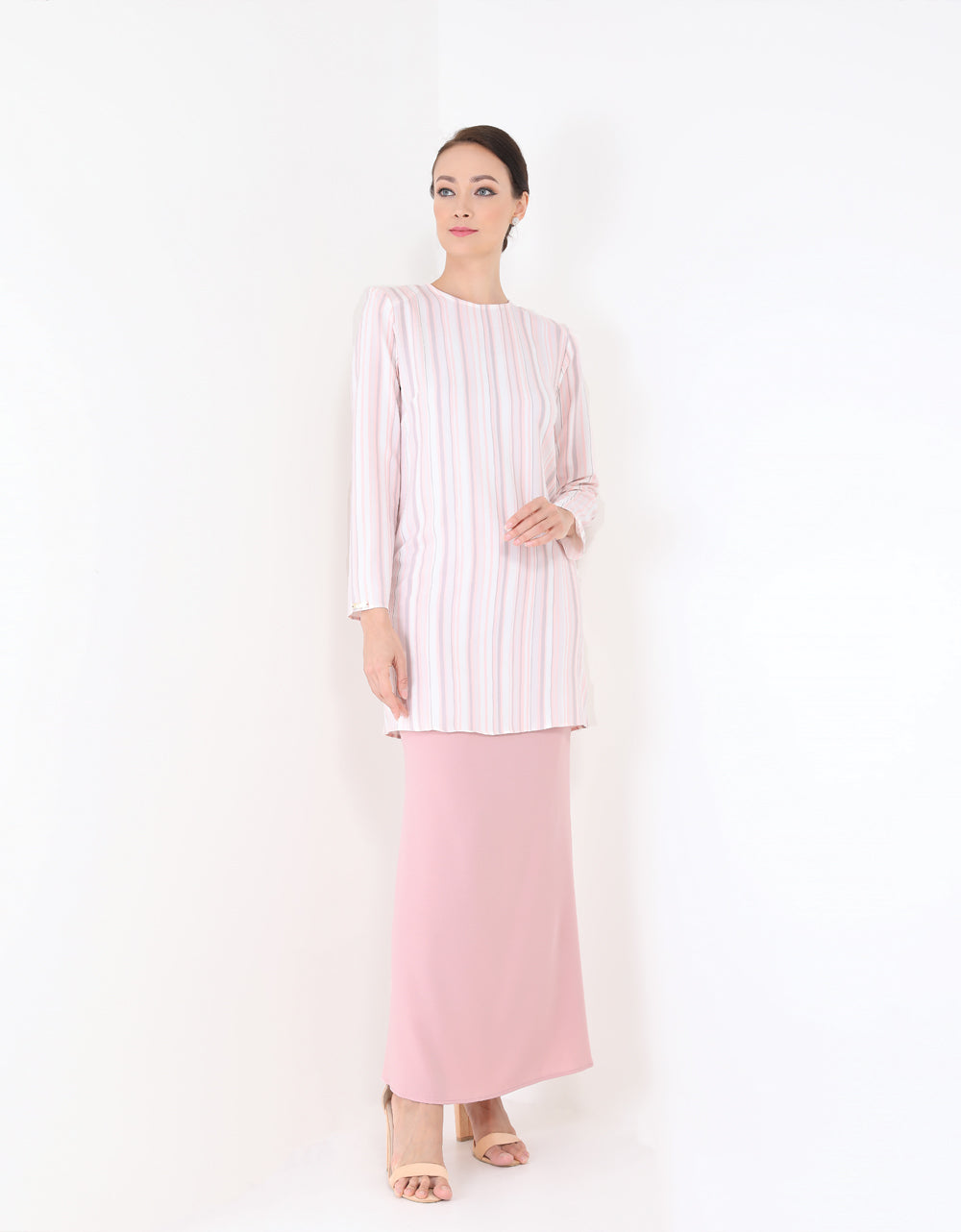 Baju Kurung Moden Safeera Mix & Match (Dusty Rose)