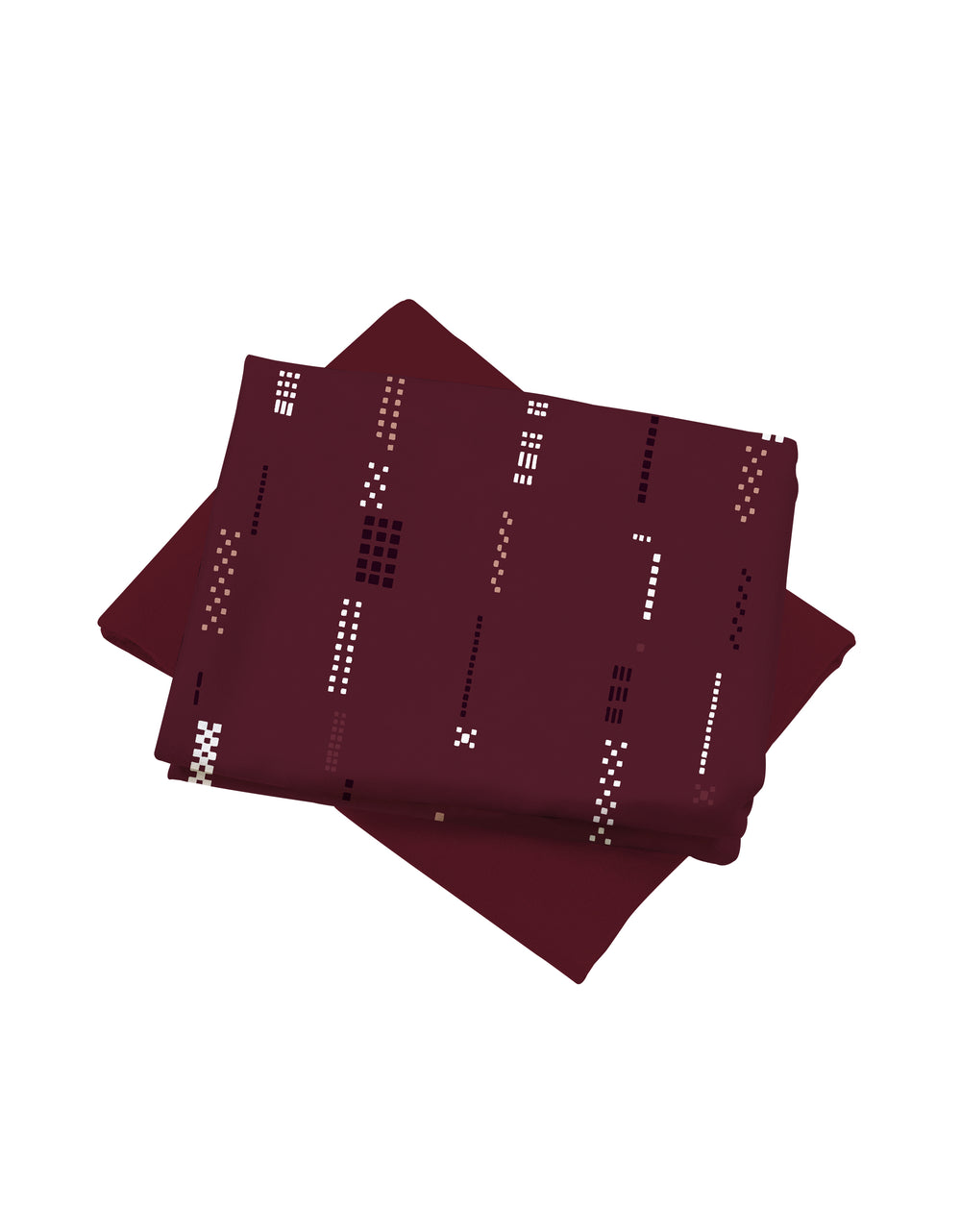Mix and Match Como Crepe Digital Clarissa (Marvel Burgundy)