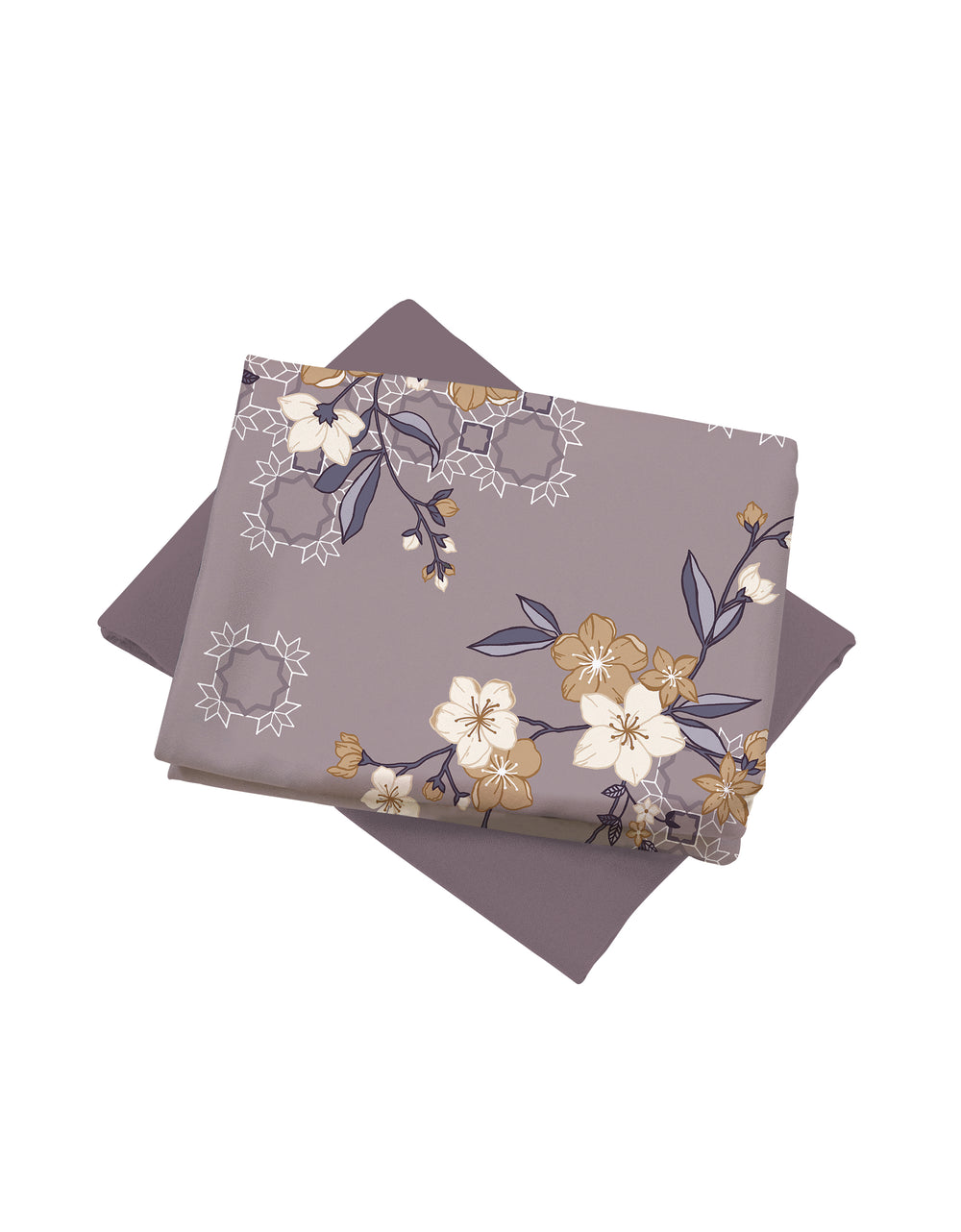 Mix and Match Como Crepe Digital Clarissa (Dusty Purple)