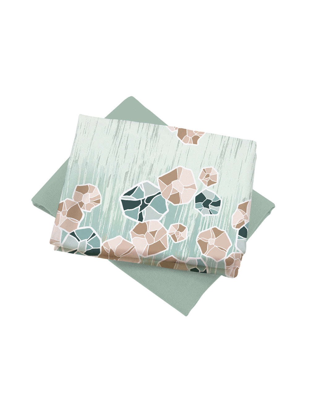 Mix and Match Como Crepe Digital Clarissa (Gosammer Green)