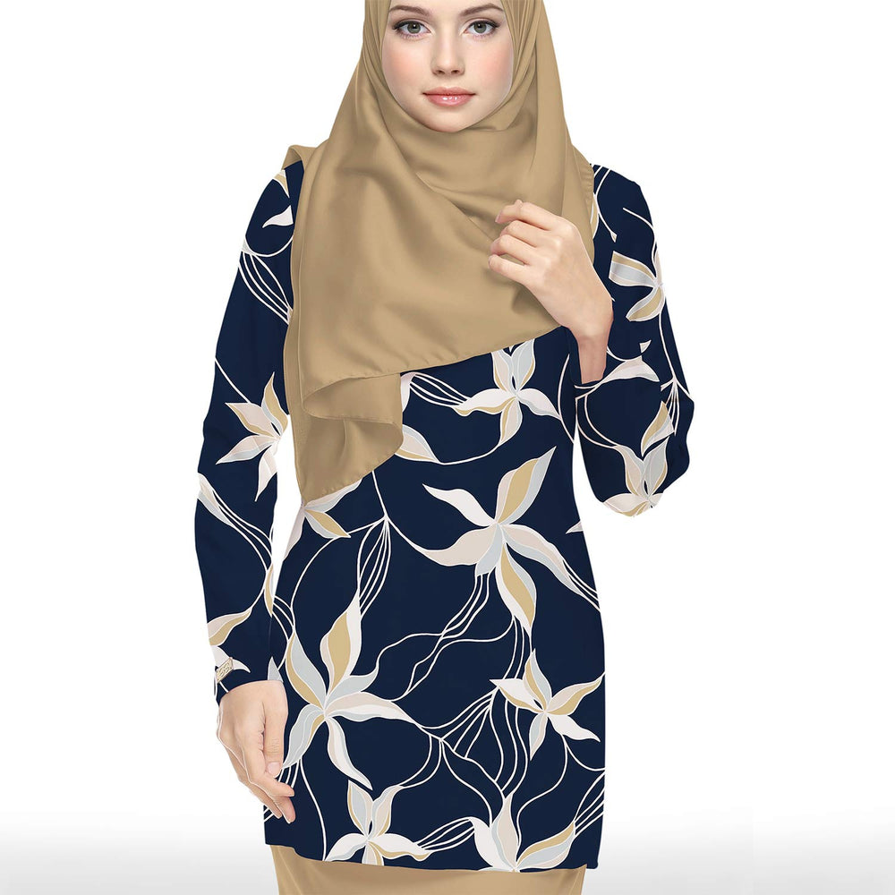 Jacklyn Silky Crepe (Navy Blue)
