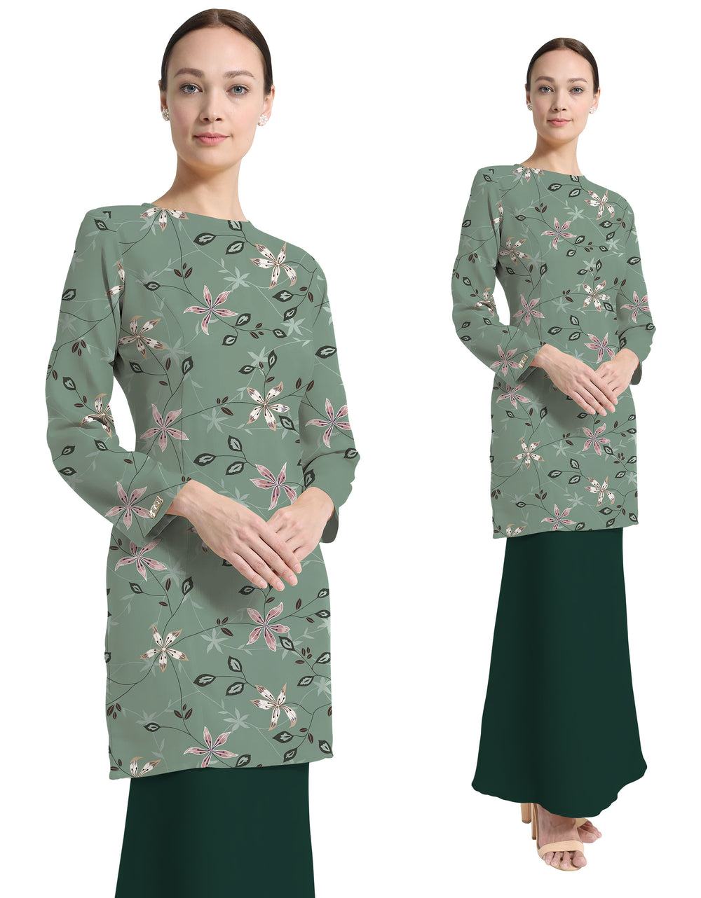 Mix And Match Rosa Crepe Adryana (Dusty Mint Green)