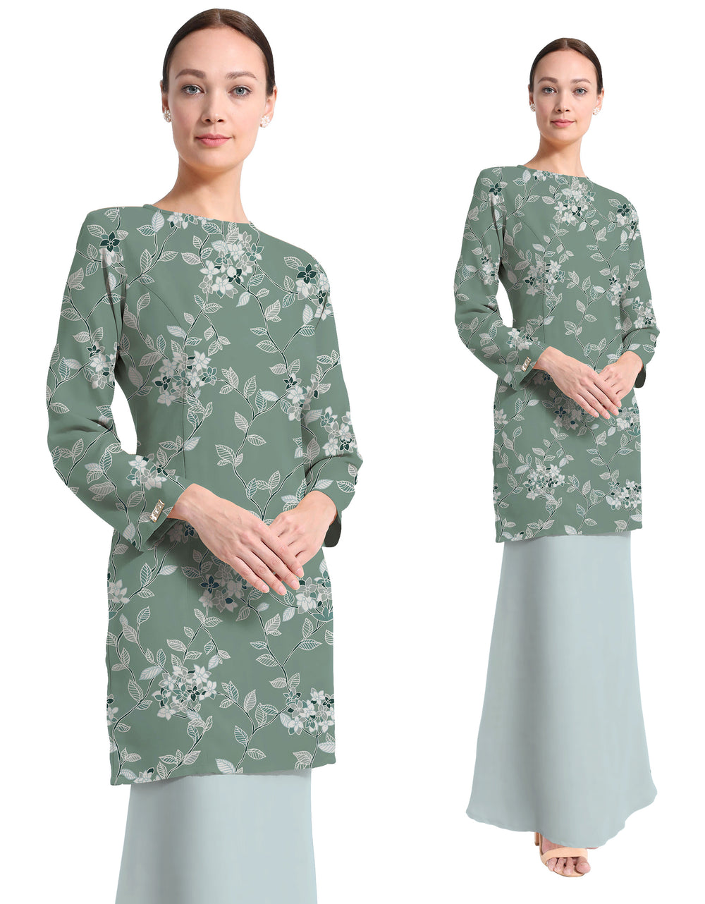 Mix And Match Rosa Crepe Adryana (Valley Green)