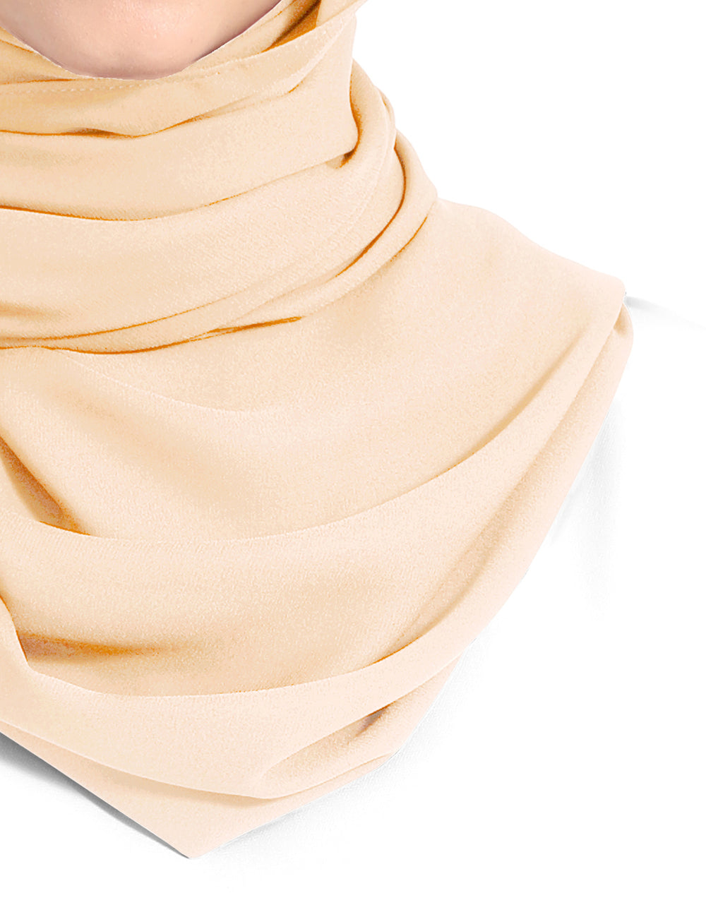 Double Georgette Chiffon Shawl Col. 32 (Ivory)