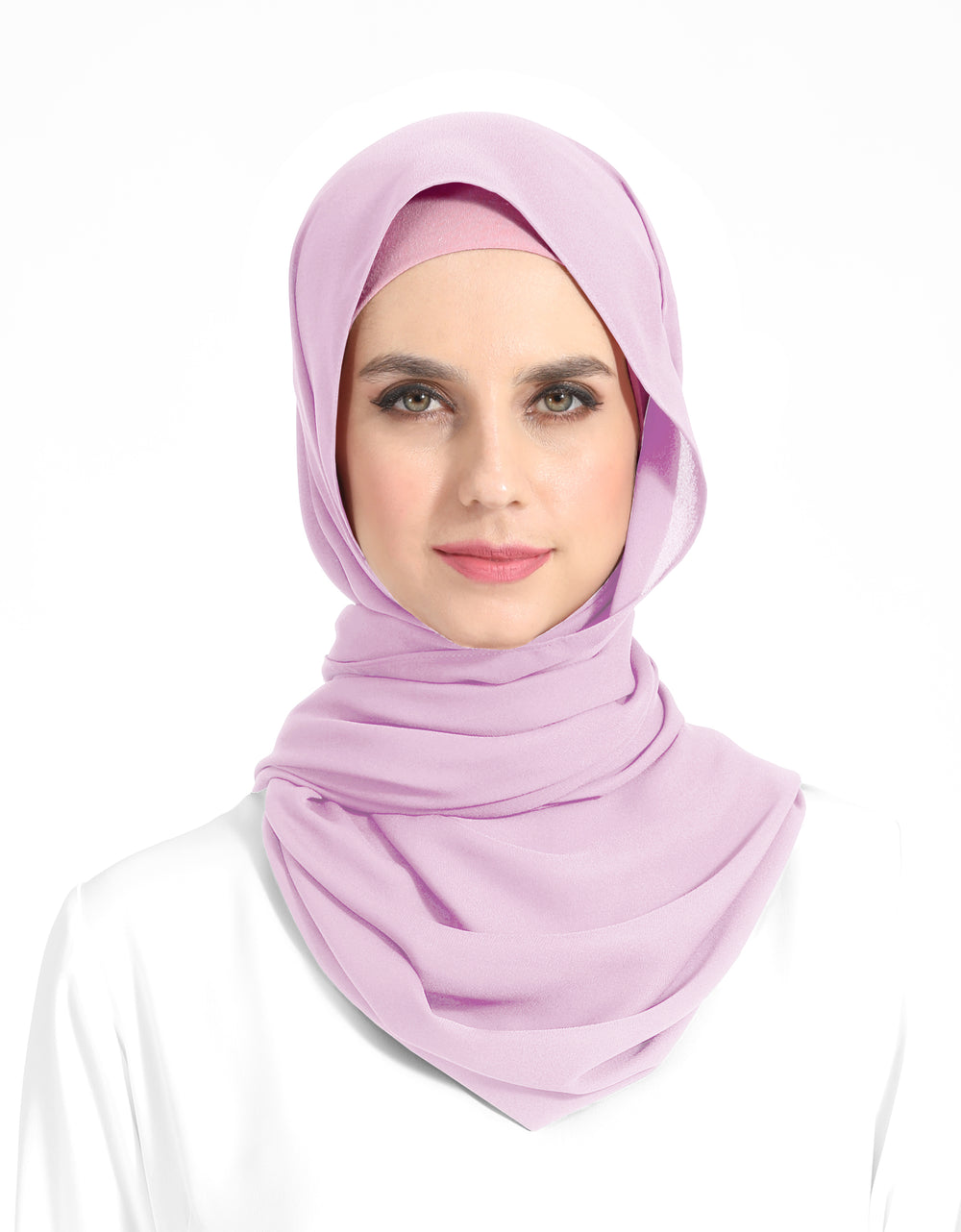Double Georgette Chiffon Shawl Col. 57 (Light Purple)
