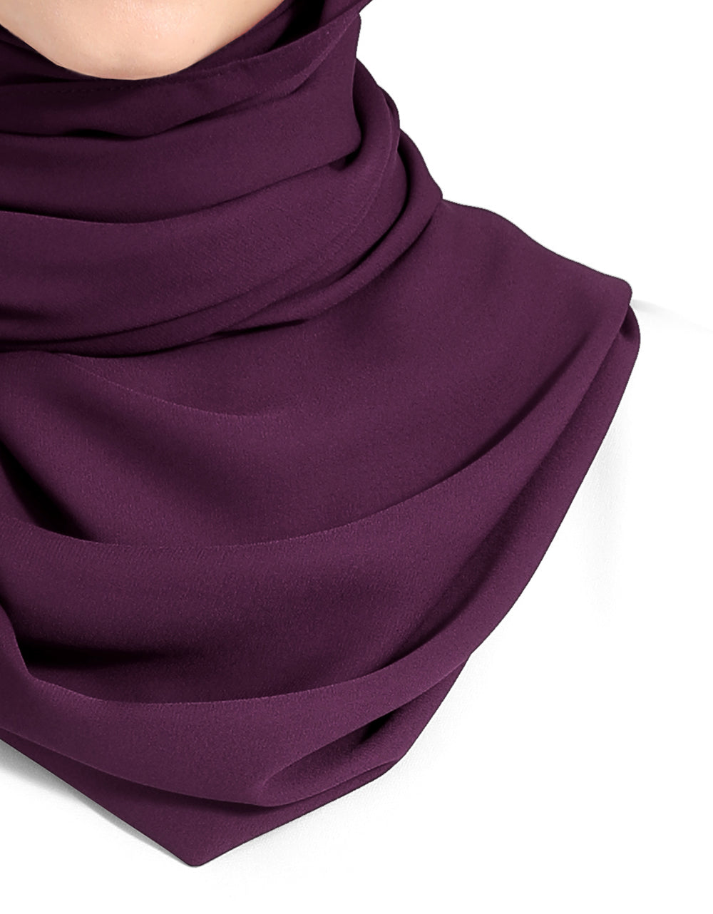 Double Georgette Chiffon Shawl Col. 63 (Violet)
