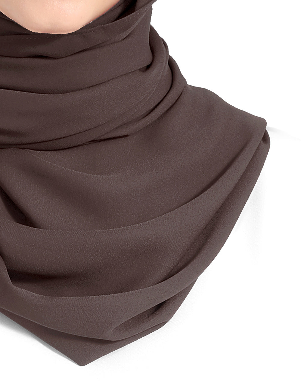 Double Georgette Chiffon Shawl Col. 71 (Deep Purple)