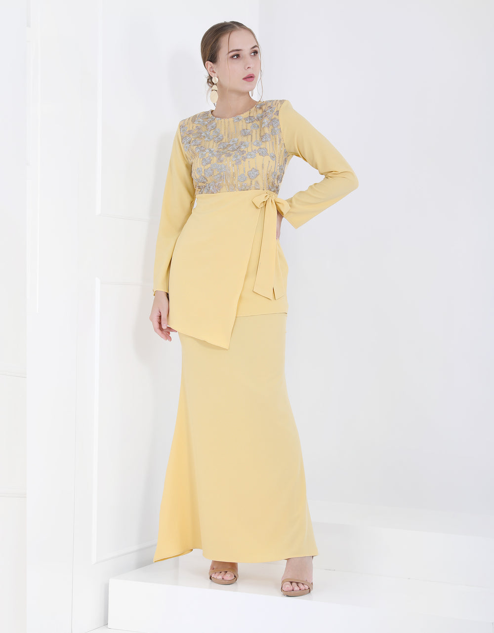 Baju Kurung Mini Suri (Yellow)