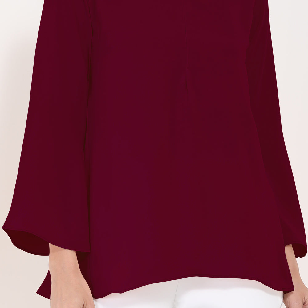 Beatrice Blouse - Maroon